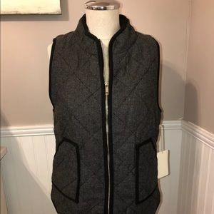 41 Hawthorne Gray Black Herringbone Vest S